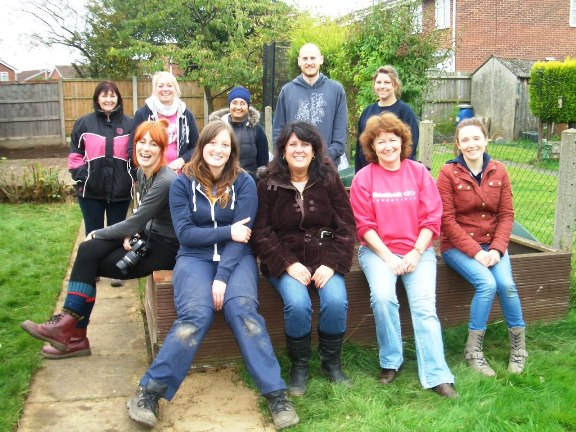HRBS staff transformed the garden at Barwell Community House for their annual team challenge