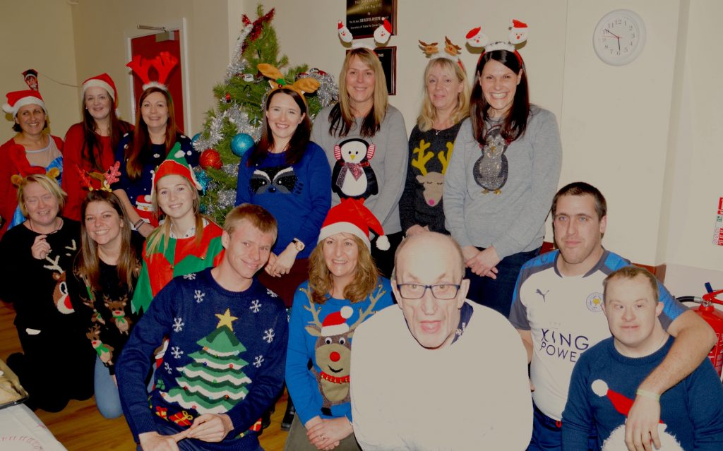 HRBS Volunteers get together with Mencap Thursday club for a Christmas party