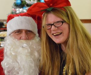 Santa was a very popular visitor to the party at Mencap