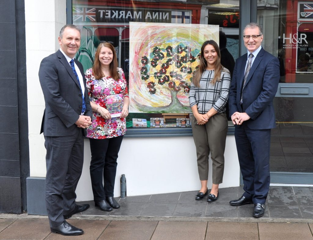 The Society's Chief Executive Colin Fyfe meets up with local MP Mark Pawsey, local artist Janet Watson and Yasmin Audhali from Myton to talk about all things community