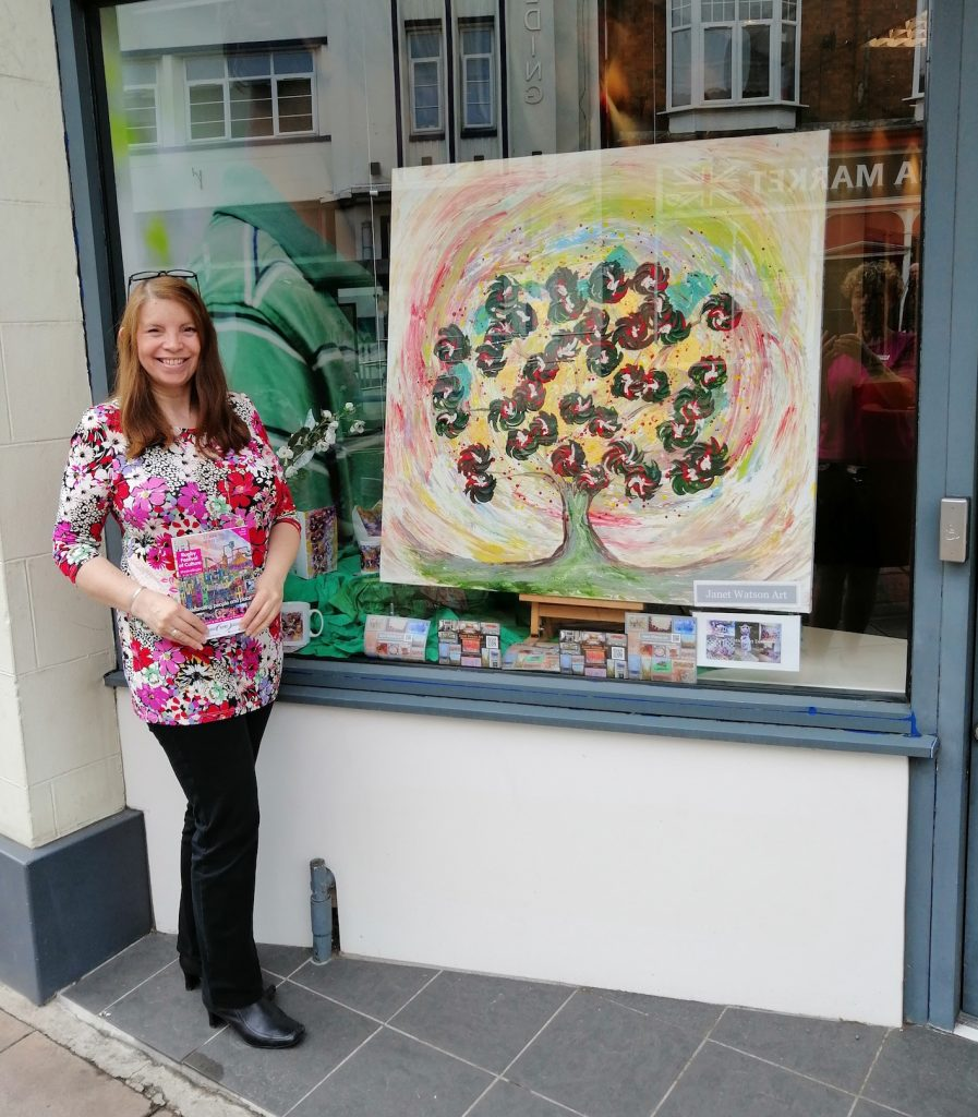 Artist Janet Watson is displaying her work as part of the Rugby Festival of Culture Art trail