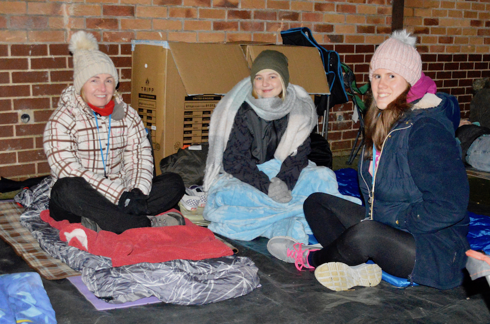HRBS staff who took part in the Sleep Out for Emmaus